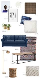 Blue Sofa Living Room Design by Living Room Style Update Navy Blue Sofa Earnest Home Co