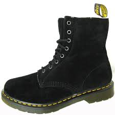 buy boots uae dr martens womens serena black suede boots wool lined apparel in