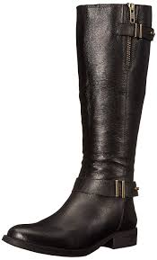steve madden women u0027s alyy engineer boot black leather shoes boots
