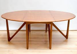 Modern Drop Leaf Table Kurt Ostervig For Jason Mobler Danish Modern Drop Leaf Dining