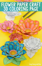 easy peasy coloring page paper craft flowers 3d coloring pages easy peasy 3d and flowers