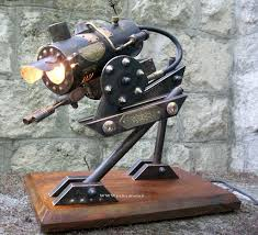 at sp steampunk walker desk lamp a hybrid of a mech and a u2026 flickr