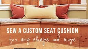 Making A Bench Cushion Diy Custom Bench Seat Cushion Knock It Off The Live Well Network
