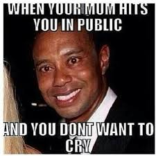 Smiling Crying Face Meme - tfymw your mom hits you in public but you don t want to cry the