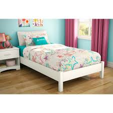 south shore step one twin size platform bed in pure white 3050205
