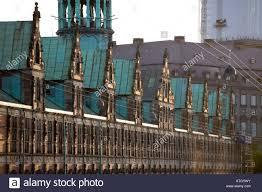 renaissance facade a long row of dormer windows along borsengade