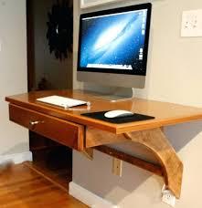 furniture furniture brown wooden wall mounted desk hanging on