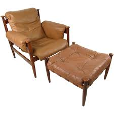 Scandinavian Leather Chairs Eric Merthen Easy Chairs Model Amiral Produced By Ire Möbler In