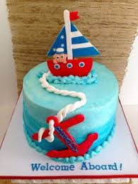 nautical baby shower cake buttercream icing first time using