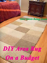 Area Rug Diy Save Green Being Green Thrifty Thursday Diy Area Rug On A Budget