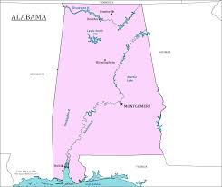 Florida Alabama Map by Alabama State Map Map Of Alabama And Information About The State