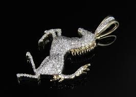 ferrari horse 10k yellow gold ferrari logo horse 1 5 inch genuine diamond