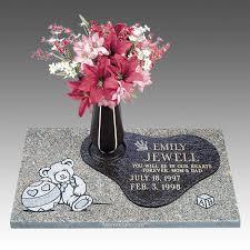 Graveside Flower Vases Memories Child Bronze Gravestone