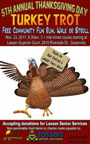 5th annual turkey trot set for thanksgiving day susanvillestuff
