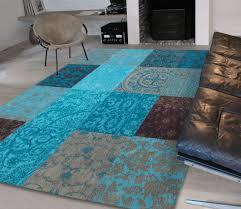 Turquoise Brown Rug Vintage Vloerkleed Turquoise Diverse Afmetingen 280 X 360 Cm