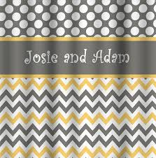Grey And Yellow Shower Curtains Yellow And Grey Chevron Shower Curtain Home Design Plan