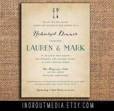 wedding rehearsal invitations rustic rehearsal dinner invite rehearsal dinner invitation