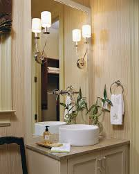 Traditional Sconces Traditional Bathroom With Swag Curtains And Wall Sconces