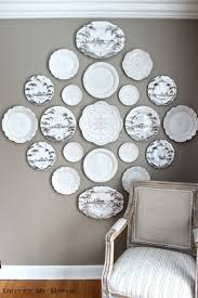 the easy how to for hanging plates on the wall plate wall white