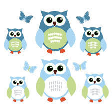 blue and grey owl art for kids with butterfly wall stickers for blue and grey owl tree wall decal with butterfly wall clings for boys