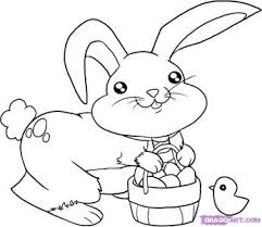coloring pages appealing draw easter bunny finished coloring