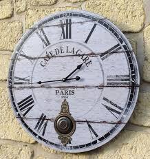 Grande Horloge Murale Pas Cher by Style Ancienne Grande Horloge Pendule Murale Ronde A Balancier De