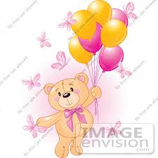 teddy bears in balloons royalty free rf clip of a girl teddy floating away with
