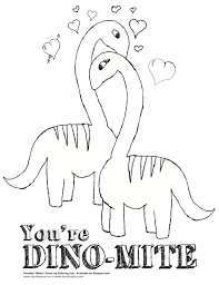 dinosaur valentine coloring pages creativemove me