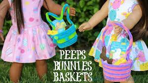 peeps easter basket diy american girl easter baskets peeps bunnies american girl