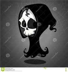 grim reaper cartoon character on a white background halloween
