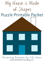 my house is made of shapes puzzle printable packet pre writing