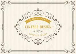 ornate vintage card design with ornamental flourishes frame