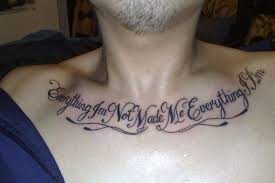 quote on chest around neck