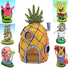 fish r spongebob fish tank ornament pineapple house large 6 5