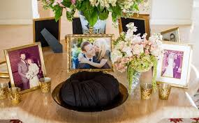 Welcome Table Elegant California Wedding With Sophisticated Décor Inside Weddings