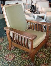 vintage antique clawfoot mission style morris chair signed with