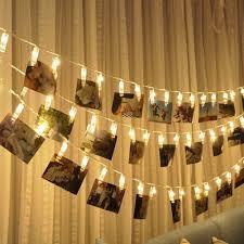 wedding home decoration kiseng battery powered 10 led clip string christmas holiday lights