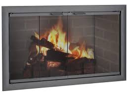 glass fireplace doors i46 for your stunning small home decor