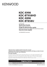 kenwood dealer kenwood kdc x898 user manual 48 pages also for kdc x998