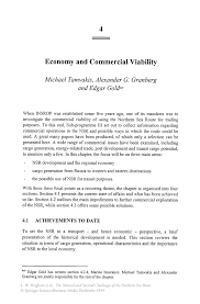 economy and commercial viability springer