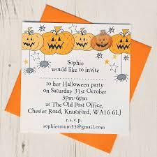 halloween party invitation personalised halloween party invitations by eggbert u0026 daisy
