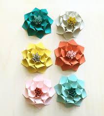 dahlia paper flower set 6 pack art cards u0026 stationery imeon