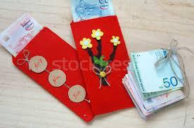 tet envelopes tet envelope lucky money stock photo honghanh