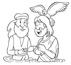 baptism jesus coloring free coloring pages art