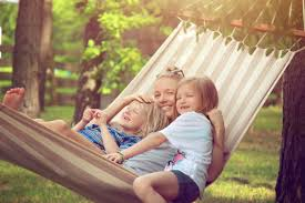 family sitting in hammock ria endovascular denver colorado