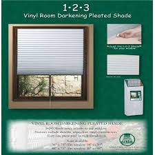Temp Paper Blinds 1 2 3 White Shade Vinyl Room Darkening Temporary Pleated Shades