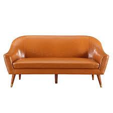Leather Mid Century Modern Sofa by Amazon Com Divano Roma Furniture Mid Century Modern Sofa