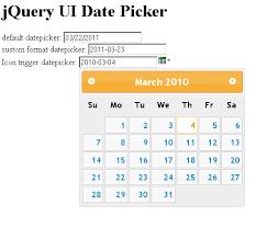 format date javascript jquery jquery datepicker custom format icon trigger