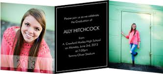 tri fold invitations custom graduation invitations tri fold creative printing of