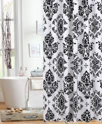 Black Bathroom Curtains Stunning Black And White Damask Print Shower Curtain U Design